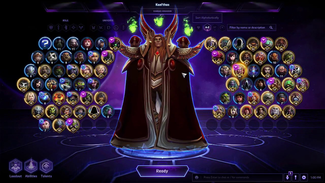 Heroes Of The Storm A Z Playthrough 2017 2018 Kaelthas