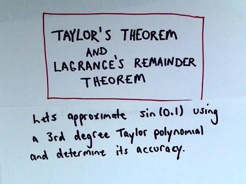 Lagrange Error Bound to Find Error when using Taylor Polynomials