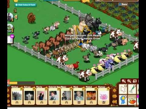 Winged Unicorn in Farmville [New]