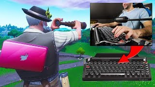 I WIN Fortnite with a TYPEWRITER