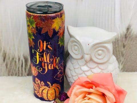How To Do Glow in the Dark PEEKABOO Pumpkin Patch  GlitterTumbler thumbnail
