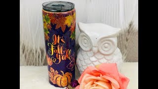 How To Do Glow in the Dark PEEKABOO Pumpkin Patch  GlitterTumbler