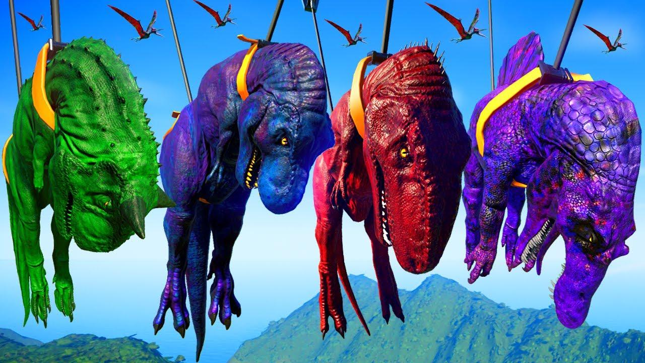 T-Rex Vs Spinosaurus Vs Giganotosaurus Vs Carnotaurus ...Giganotosaurus Vs Spinosaurus