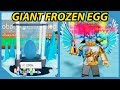 New Update! Giant Frozen Egg! Got Lava Blade! - Roblox Unboxing Simulator