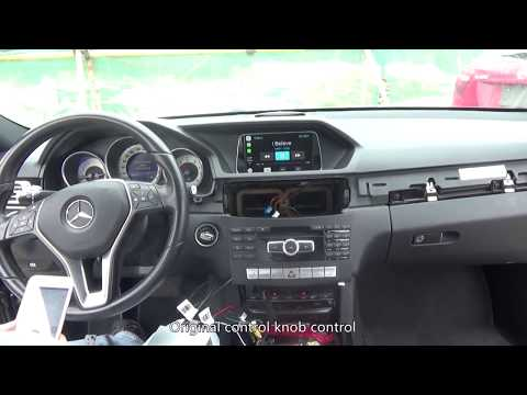 How to install and upgrade Mercedes E300 2013.10 NTG4.5 Navi system with CarPlay Proxy Kit