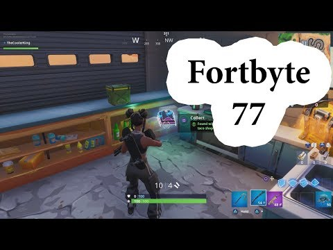 Fortbyte 77 Location - Found within a track side taco shop