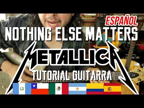 Nothing Else Matters - Metallica - Tutorial - Guitarra - Intro - Como tocar en Guitarra