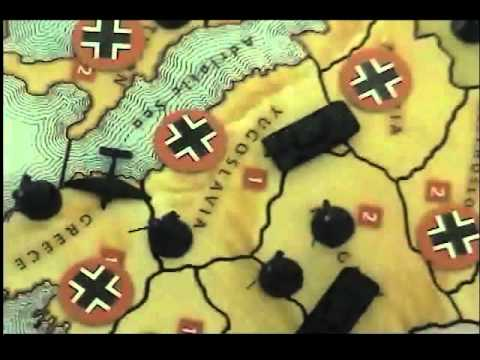 European Theater of World War II redone with Axis and Allies pieces.
