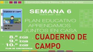 Semana 6, Básica superior (8vo, 9no y 10mo EGB), Cuaderno de Campo
