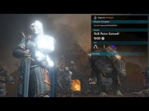 "Middle-Earth Shadow of War ""Capture Ghashgor"" Mission EPIC BATTLE Saved Very Last Moment Shmeeboy77"