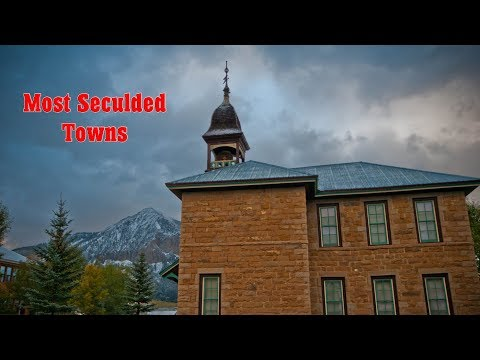 Top 10 most secluded towns in United States of America. Best is #3