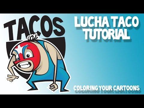 Adobe Illustrator Cartoon Tutorial: Coloring your Cartoon Characters