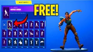 Fortnite How To Get The NEW BOOGIE DOWN Dance/Emote For FREE! (Easy Step By Step Guide!)