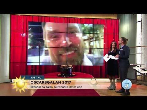 Skandalen på Oscarsgalan - fel film lästes upp! - Nyhetsmorgon (TV4)
