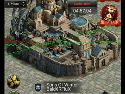 THRONE WAR SOW VS BOT CHINESE K836 ( CLASH OF KINGS )