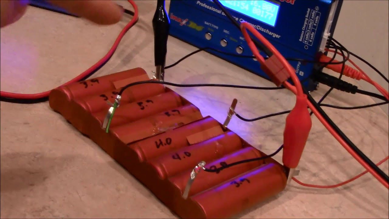 18650 Lithium Ion Cell Balancing With The New Charger