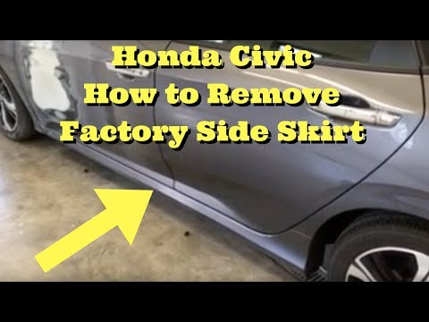 2016 2017 Honda Civic ---- Side Skirt Rocker Molding Ground Effects Removal How to Remove