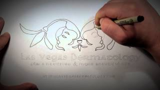 Las Vegas Dermatology Logo Drawing Thumbnail