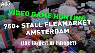 LIVE VIDEO GAME HUNTING on Europe's biggest flea market / boot sale - ERG on TOUR 15