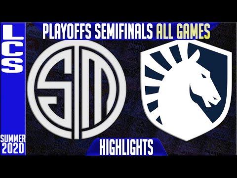 TSM Vs TL Highlights ALL GAMES   LCS Playoffs Semifinals Summer 2020   Team Solomid Vs Team Liquid
