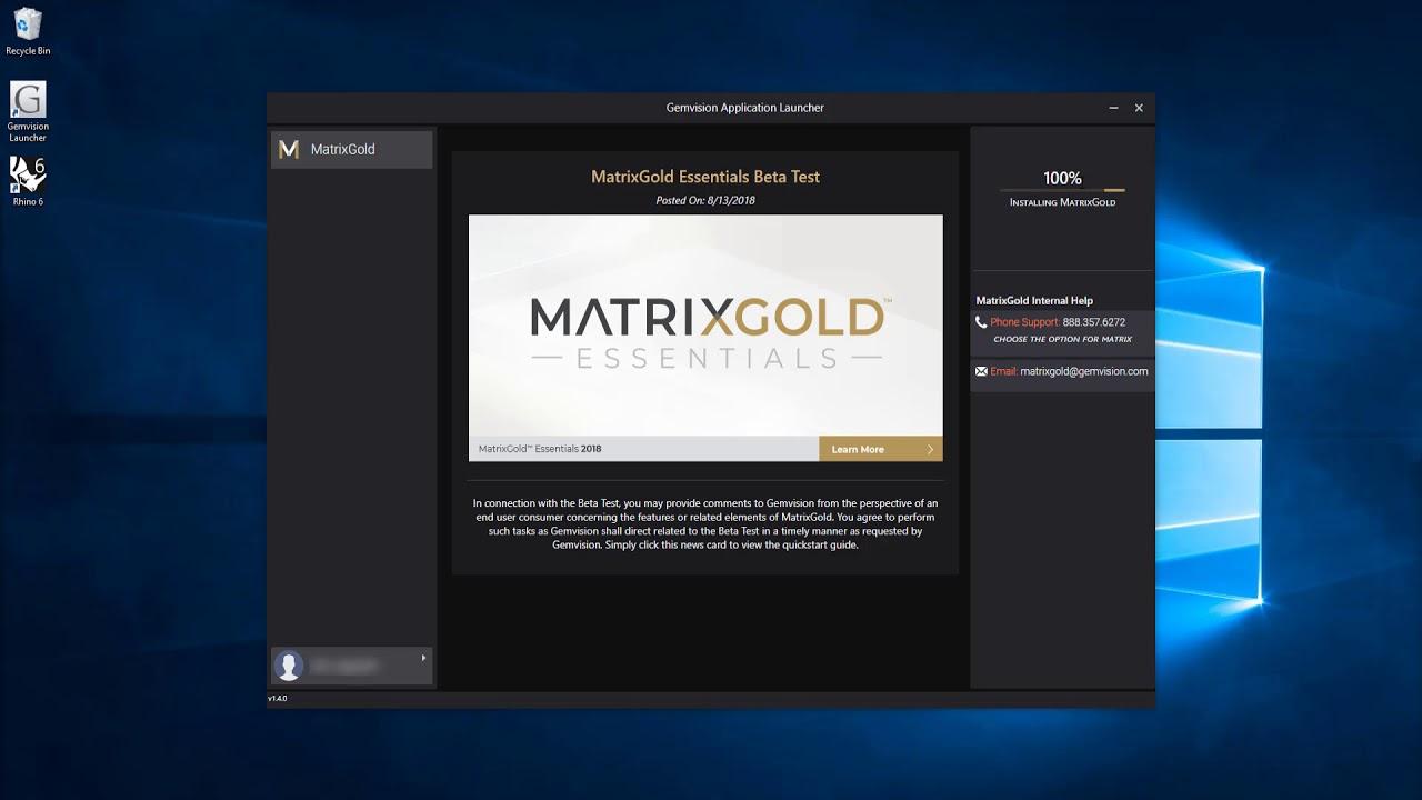 How to Install Rhino6 & MatrixGold