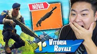 ENCONTREI A *NOVA* ESCOPETA E ESTÁ MUITO FORTE!! - Fortnite Battle Royale