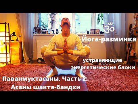 Паванмуктасаны. Часть 2 Асаны шакта бандхи упражнения устраняющие энергетические блоки