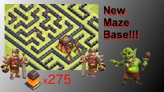 NEW Fun Maze Base! Wins Trophies Too! - Clash Of Clans