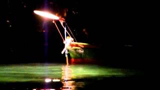 La pesca con la lampàra a Vaccarella (17 febbraio 2014).