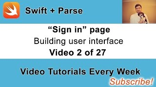 """""""Sign in"""" page -  Building user interface."""