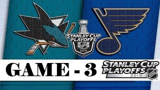 San Jose Sharks Vs St. Louis Blues  Western Conference Final  Game 3  Nhl 201819  Обзор матча