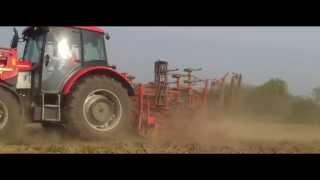 Uprawa ziemi przed siewem kukurydzy. Kwiecień 2014