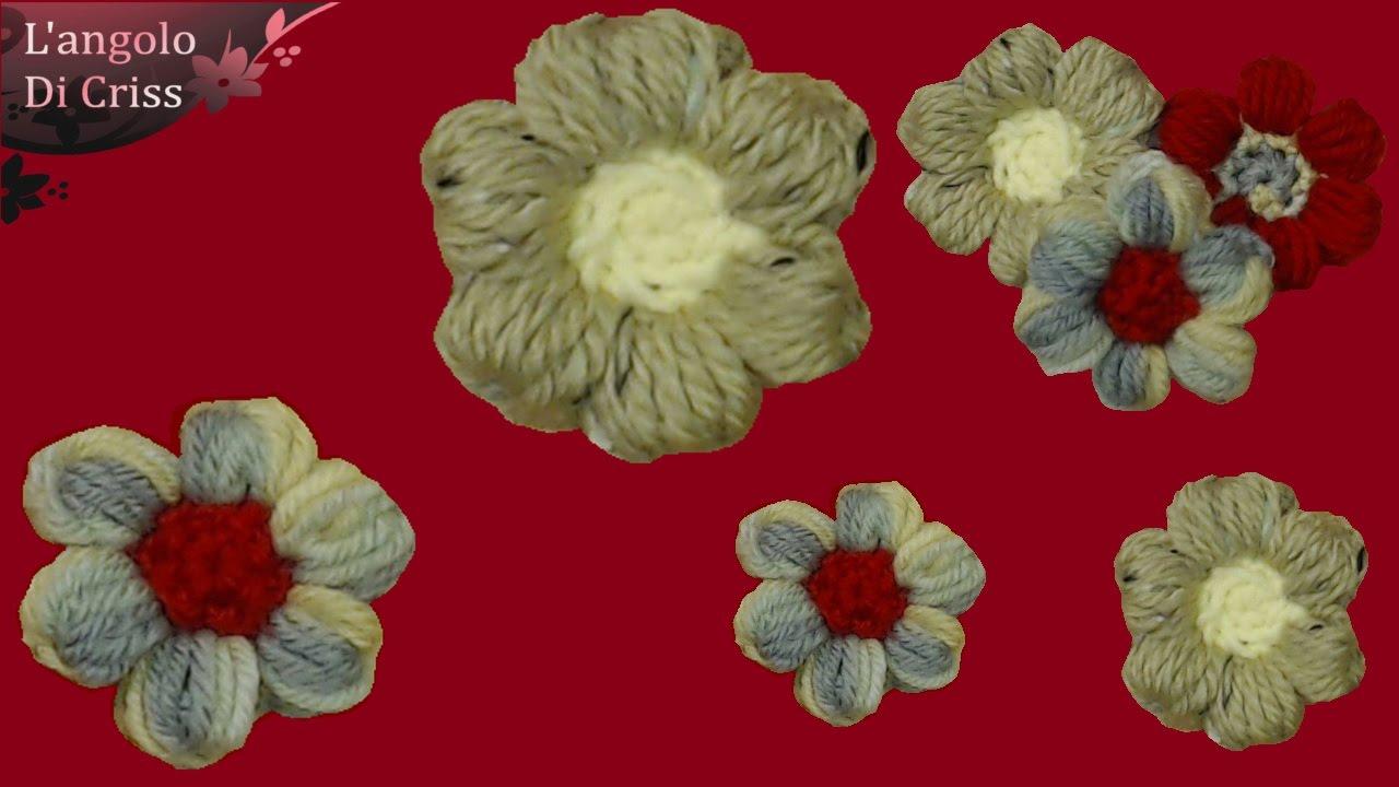 Fiore Alluncinetto Facile Il Puffiore Tutorial Passo A Passo