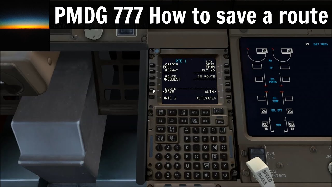 pmdg 777 tutorial how to save a route in the fmc youtube rh youtube com