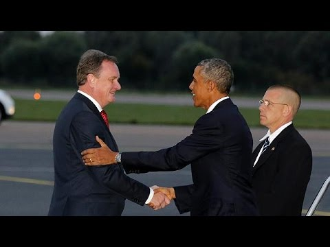 Obama arrives in Estonia in a show of solidarity with Baltic states