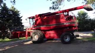 start up case ih combine 1680 rev 1992 cummins diesel