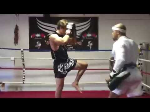 Leo Howard  Muay Thai Training