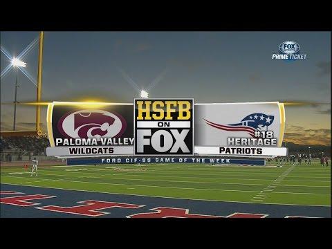 NFHS 2016 / Week 11 / 04.11.2016 / Paloma Valley Wildcats (CA) vs. Heritage Patriots (CA) / 720pier