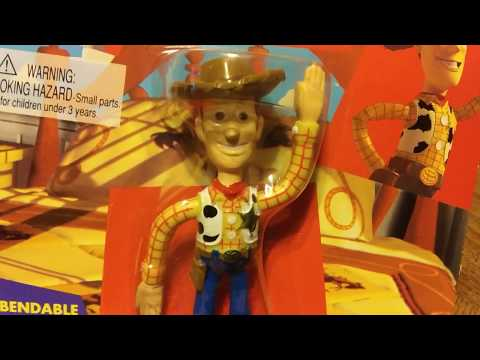 The Future Presents 1995 Thinkway Toys Disney's Toy Story Woody MOC Bendable Figure Retro Review