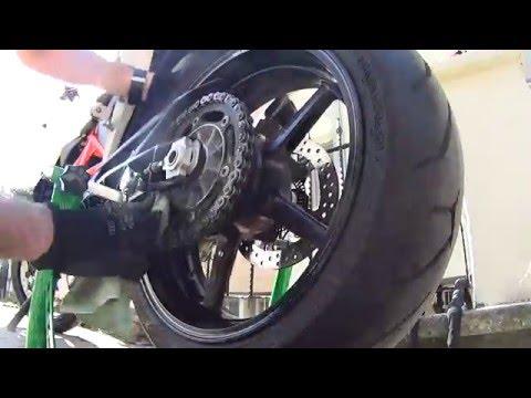 KTM Duke 690 Zincir Temizleme ve yağlama / KTM Duke 690 Chain Cleaning  &Lube
