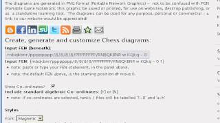 Chess diagram generator - create puzzles problems positions openings defences traps