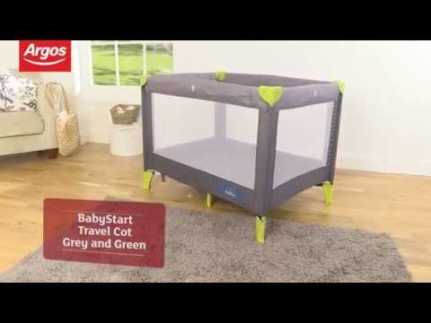 BabyStart Travel Cot in Grey and Green Review by Argos