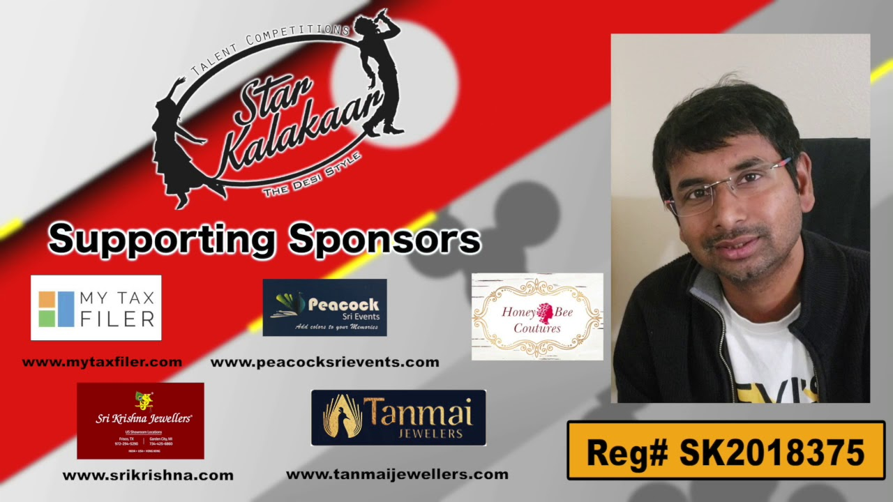 Participant Reg# SK2018-375 Introduction - US Star Kalakaar 2018 || DesiplazaTV