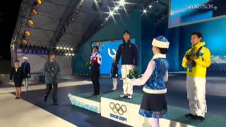 SOCHI 2014 - Victory ceremony - Men's Figure Skating