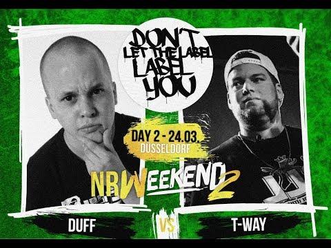 Duff Vs T-Way // DLTLLY RapBattle (NRWeekend2 // Düsseldorf) // 2018