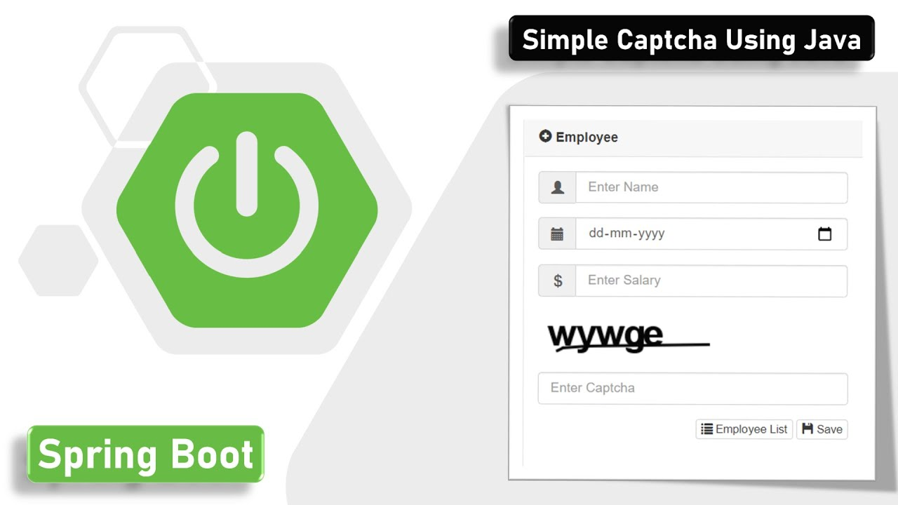Generate Captcha using Simple Captcha Library in Spring Boot | Arabic  Captcha | Chinese Captcha