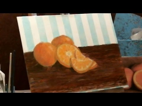 Speed painting oranges using glazing technique  my first attempt