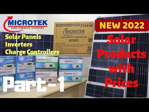 New 2019 Microtek Solar Panels, Inverters and Charge Controllers with New Price