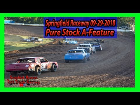$500 for 5 Pure Stock A-Feature - Springfield Raceway 9/29/2018