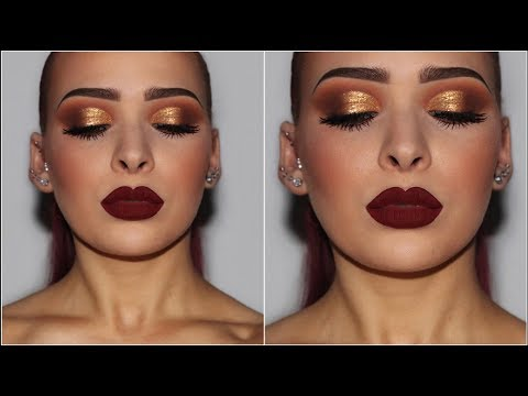 Gold Smokey Eye Affordable Makeup Tutorial